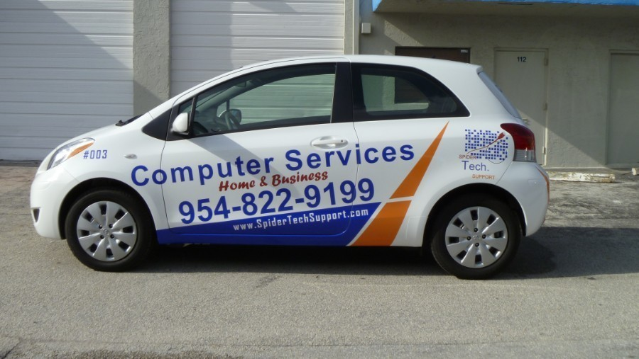 Toyota Palm Beach >> Toyota Yaris car wrap Fort Lauderdale Spider Tech Support
