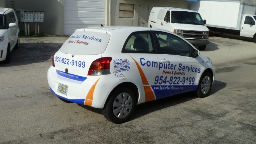Toyota Yaris Vehicle Wrap Miami Spider Tech Support