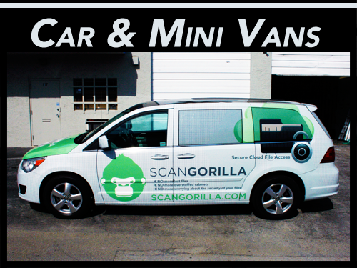 Fort Lauderdale, Miami, West Palm Beach Car & Mini Van Vehicle Wraps