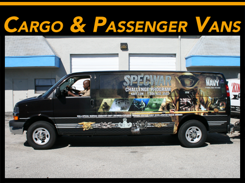 Commercial Cargo Van 3M Vinyl Vehicle Wraps & Graphics