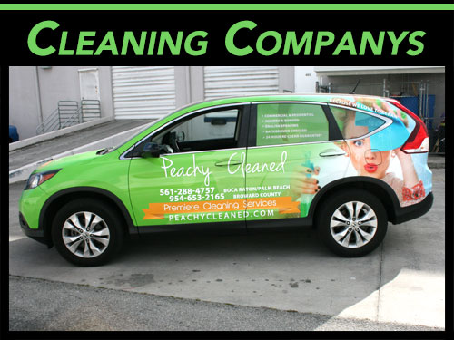 Cleaning Service Company Car Wraps for Fort Lauderdale Florida