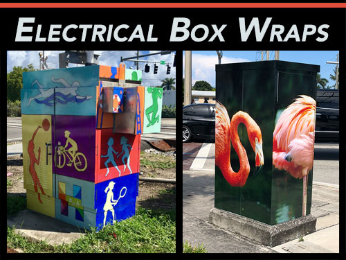 Electricl Box & Traffic Box Wraps for South Florida Cities & Counties