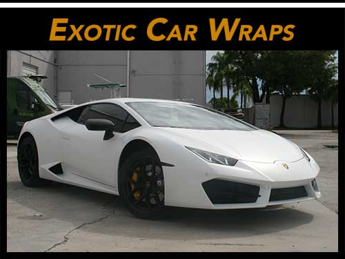 Exotic car wraps for Fort Lauderdale, Davie, Miami & West Palm Beach Florida
