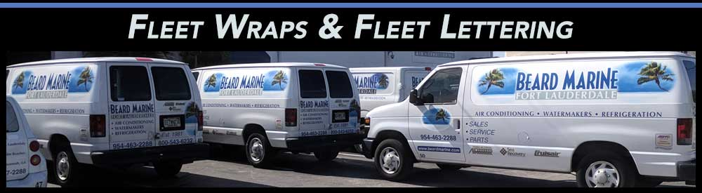 Fleet Wraps, Fleet Lettering & Fleet Graphics for Fort Lauderdale, Miami & Boca Raton Florida