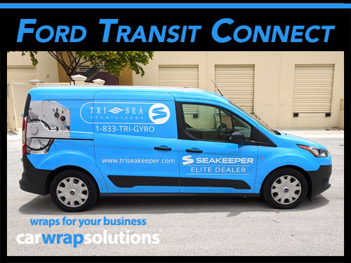 Ford Transit Connect Commerical Car Wraps For Fort Lauderdale, Davie, Dania Beach, Miami and Boca Raton, Florida.