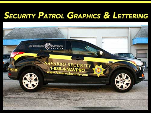 Security Car & Vehicle Graphics, Decals & Lettering Miami, Fort Lauderdale, Boca Raton, West Palm Beach, Florida