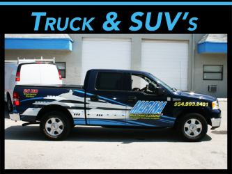 Miami, Fort Lauderdale, West Palm Beach, FL Truck & SUV Vehicle Wraps