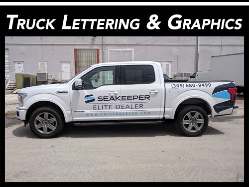 Truck Lettering & Truck Graphics for Fort Lauderdale, Florida