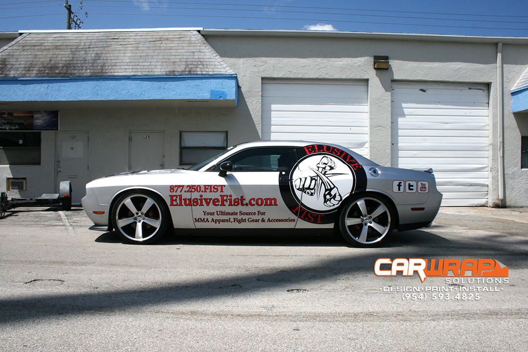 Dodge Challenger Miami vinyl graphics