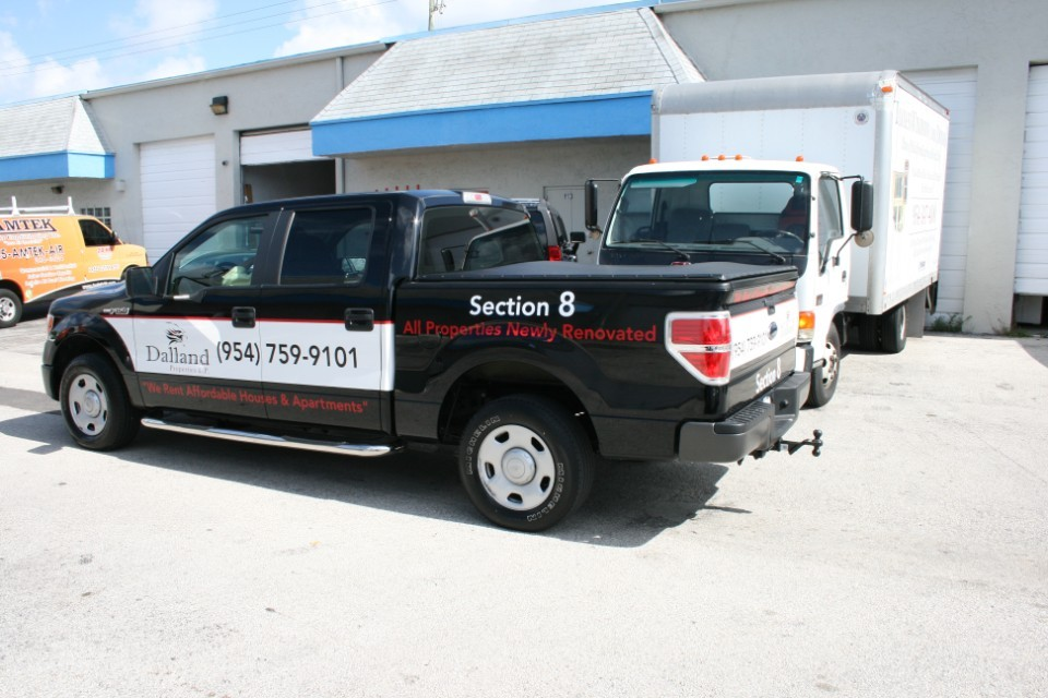 Ford F150 truck wrap Fort Lauderdale Dalland Properties