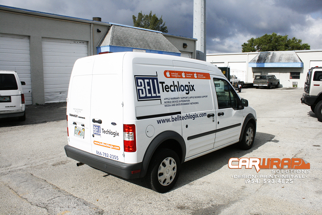 Fort Lauderdale Florida Ford Transit Connect Lettering