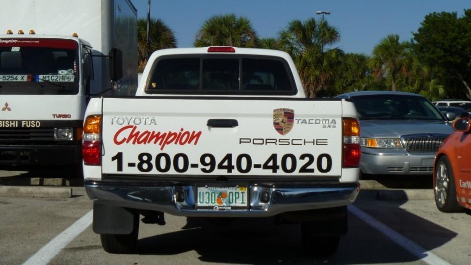 Champion Porsche Vinyl lettering & Vinyl decals, Pompano Beach
