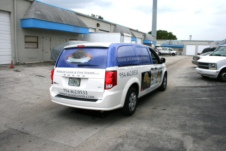 Dodge Caravan Vinyl Lettering Bemka Miami Florida Car