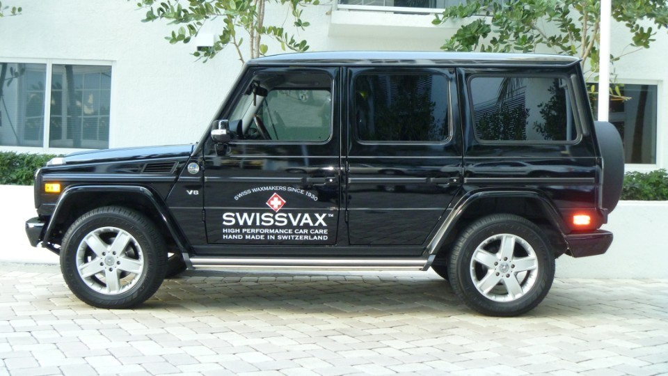 swissvax vinyl truck lettering advertisement miami florida car wrap solutions