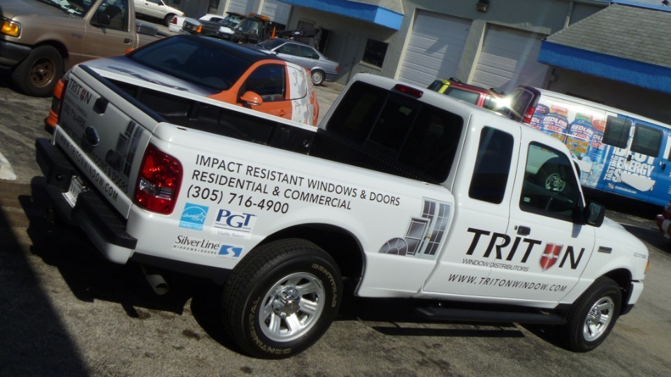 Triton Windows Miami Ford Truck decals